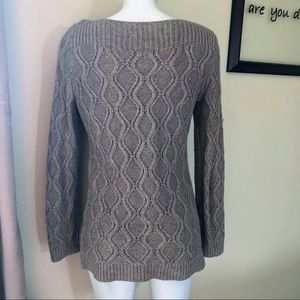 LOFT Sweaters - The Loft Tan Cable Long Sleeve Sweater